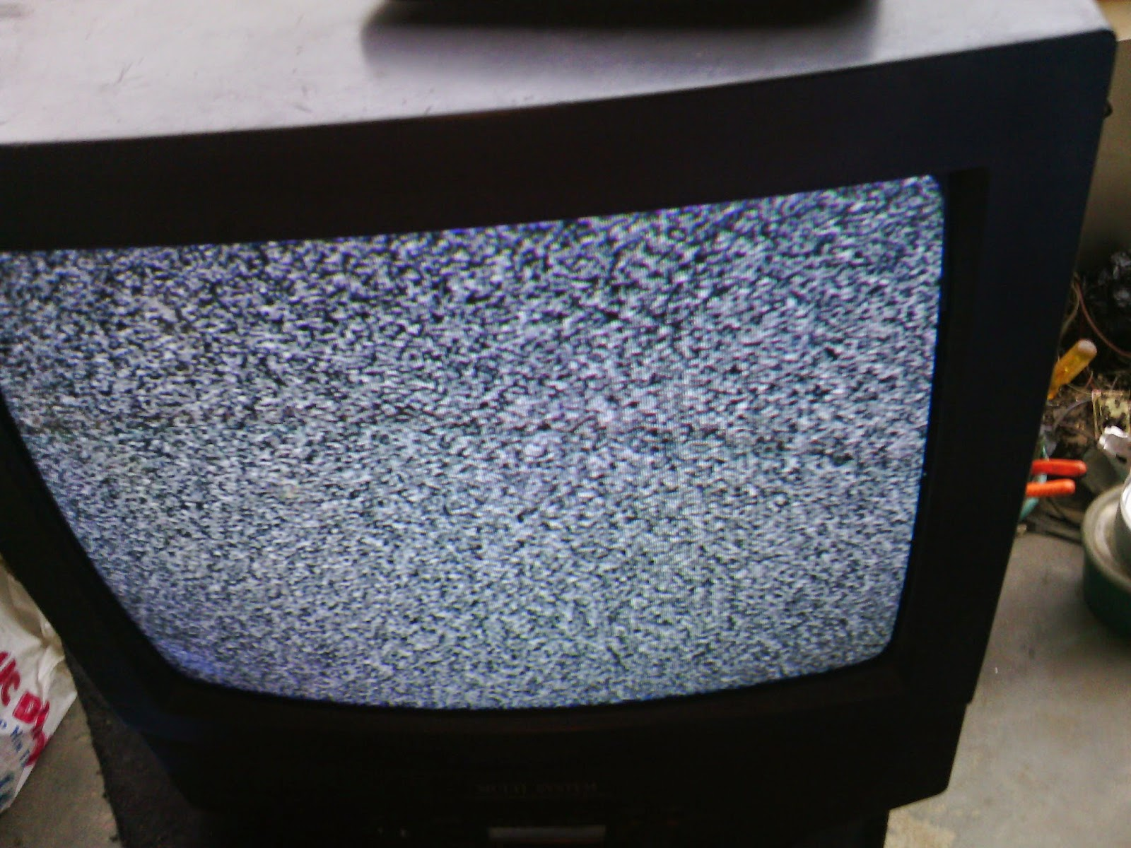 sharp tv with flyback lines on screen repaired