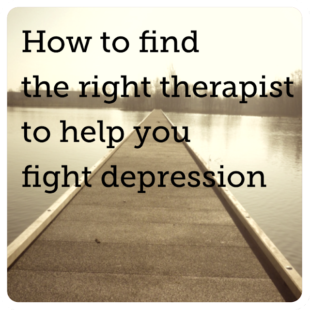 How to find the right therapist to fight depression