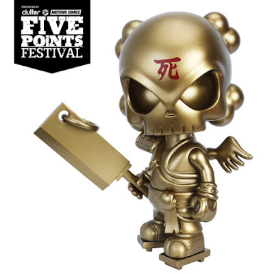 "Five Points Festival Exclusive Soul Collector Gold Edition 8"" Vinyl Figure by Huck Gee x Mighty Jaxx"
