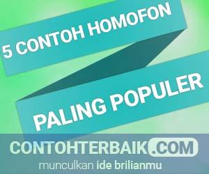 Contoh Homofon