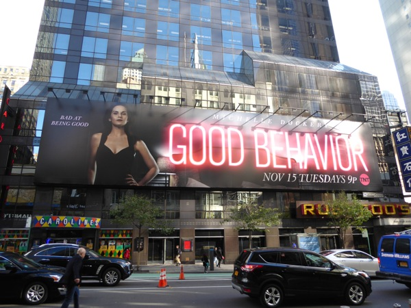 Good Behavior billboard NYC