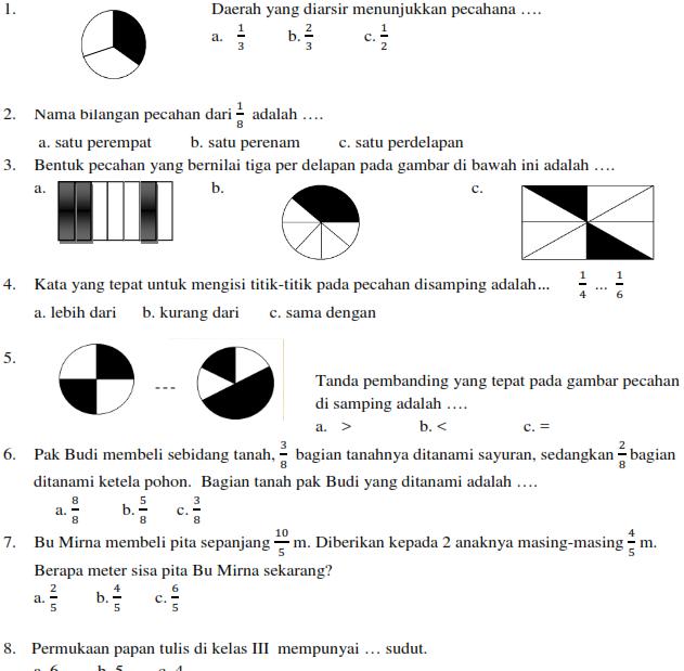 Download Soal Soal Ukk Matematika Kelas 1 2 3 4 5 Ktsp Oemar Bakri