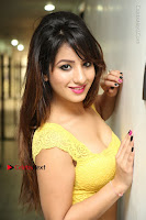 Cute Telugu Actress Shunaya Solanki High Definition Spicy Pos in Yellow Top and Skirt  0083.JPG