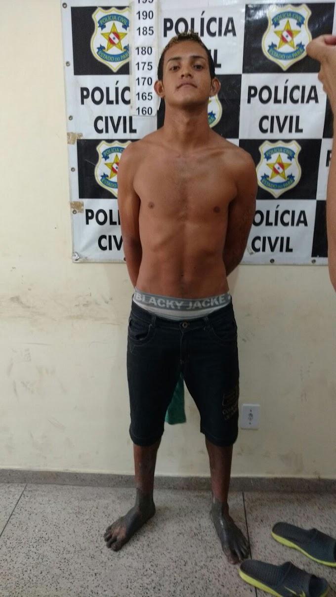 Jovem é preso pela Policia Civil em Bragança acusado de homicídio