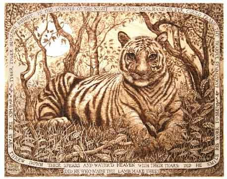 Compare life of pi to the tyger poem by william blake