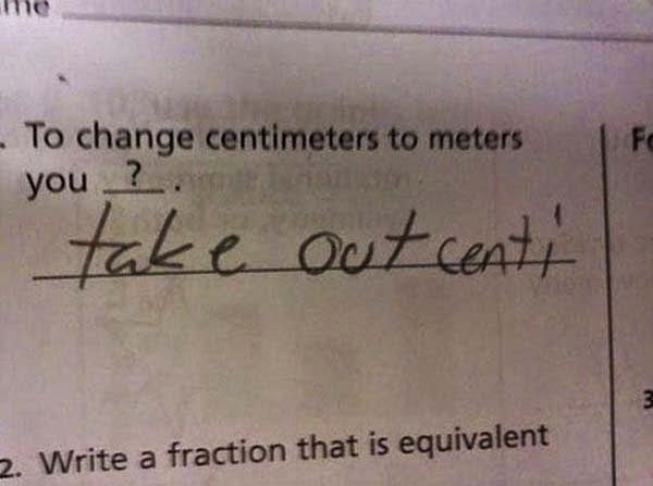 Here Are 25 Kids That Gave Absolutely Brilliant Answers On Their Tests. These Are Hysterically Genius. - It's not like this was completely wrong
