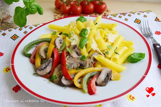 paste-fara-gluten-ciuperci-ardei-tricolor-1