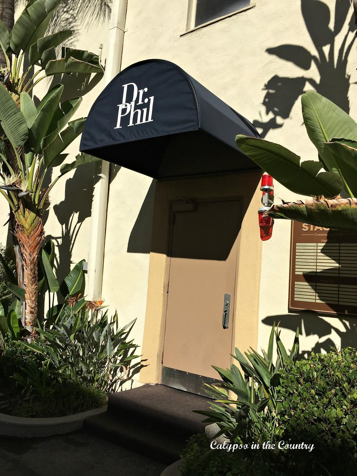 Dr. Phil soundstage door at Paramount Studios