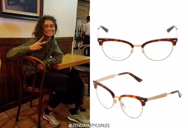 372c54bc5e2 She also wore her favorite Gucci Round Optical Frames.