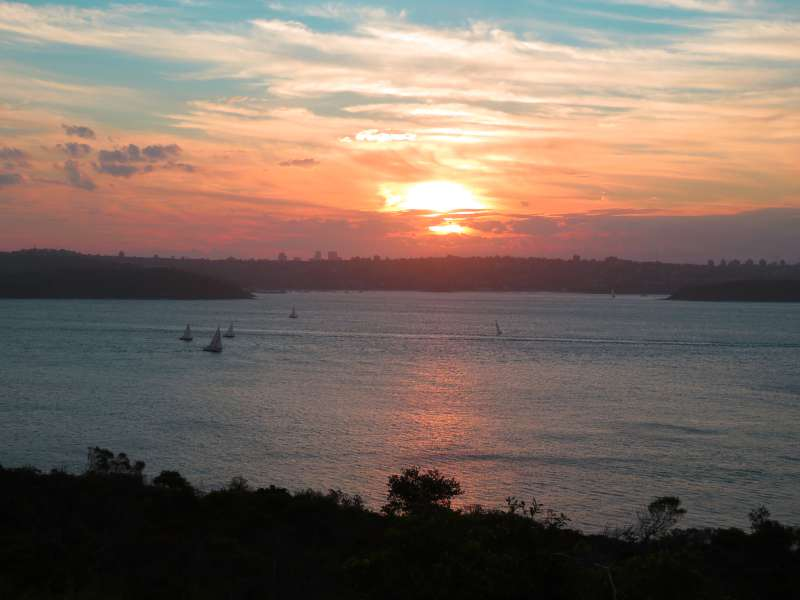 Sunset over Balmoral Beach