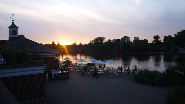 Sunset at Hyde Park Serpentine Lido