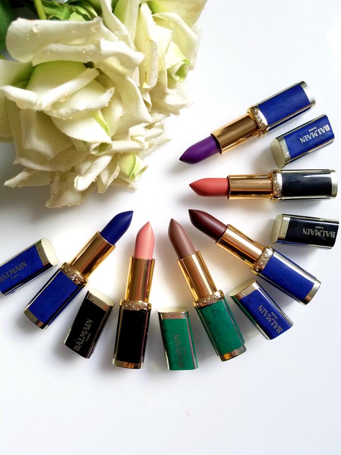 Review: L´Oréal Paris X Balmain Couture Lipstick Collection 246 Confession - 356 Confidence - 901 Rebellion - 650 Power - 467 Freedom - 648 Glamazone 3 madame keke