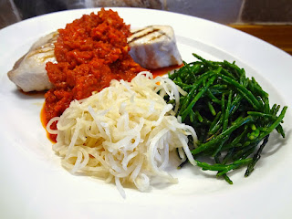 Swordfish with Red Pepper Sauce