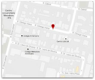 Mapa com a Localização da Escadaria da Rua Cônego Viana à Rua Dr Lauro de Oliveira, Porto Alegre (Mapa)