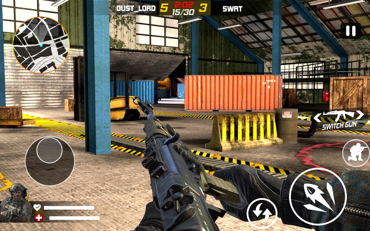 Frontline Combat Sniper Strike Modern FPS hunter MOD APK terbaru