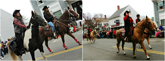 Caballos del Desfile de Acción de Gracias en Plymouth