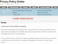 Cara Membuat Privacy Policy Online Tutorial Lengkap