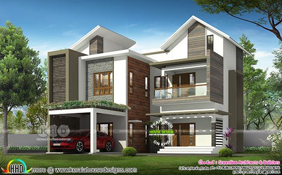 Modern mixed roof 4 bedroom 2834 sq-ft house