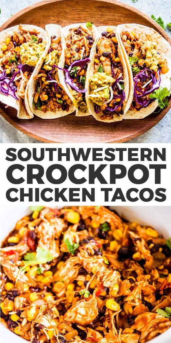 SOUTHWESTERN CROCKPOT CHICKEN TACOS RECIPES