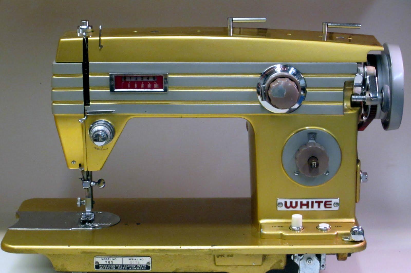 mi vintage sewing machines white 765 1965. Black Bedroom Furniture Sets. Home Design Ideas