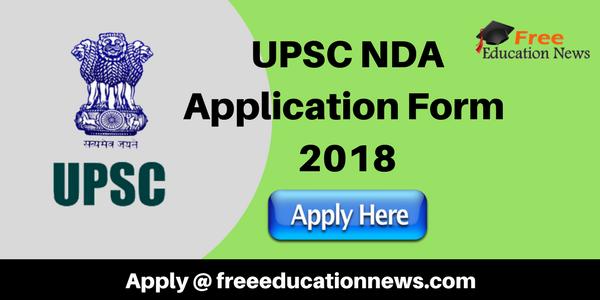 UPSC NDA Application Form