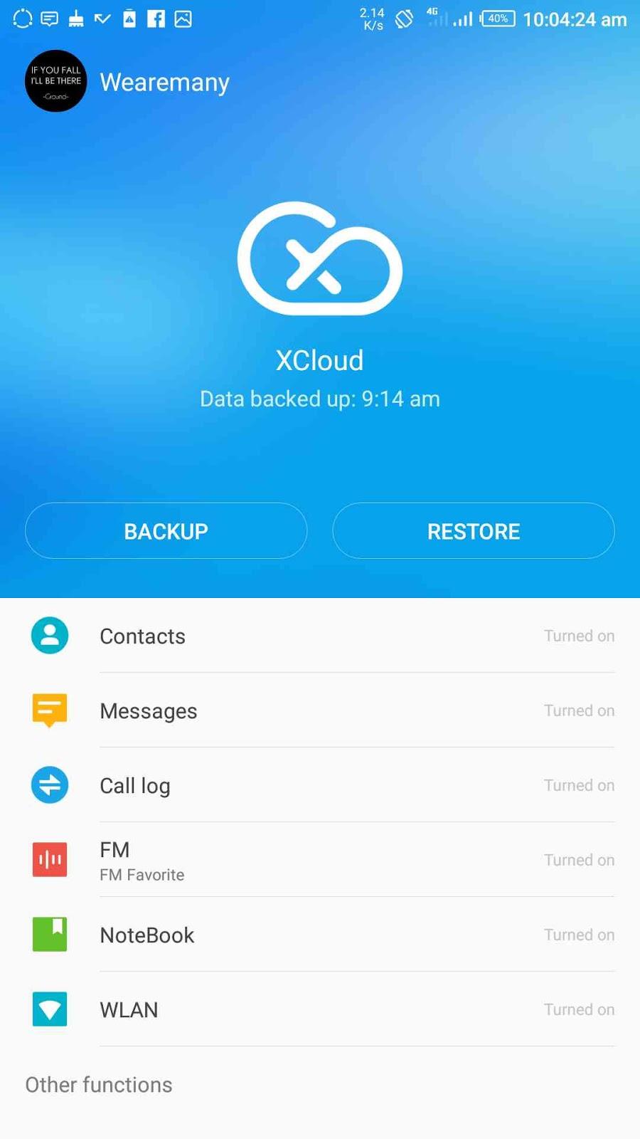 XCloud from Infinix