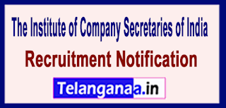 The Institute of Company Secretaries of India ICSI Recruitment Notification 2017 Last Date 31-05-2017