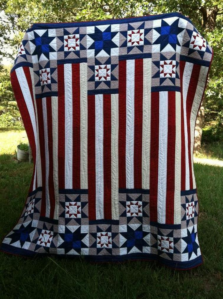 American Flag Retail Quilt Pattern