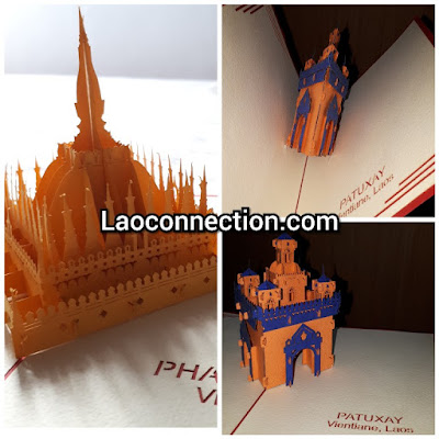 Lao pop-up cards