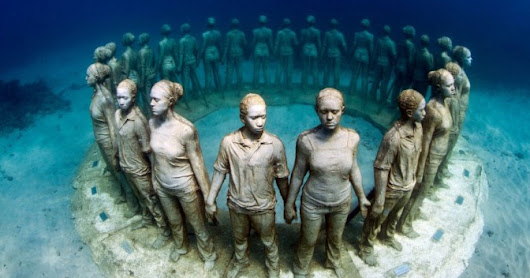 CANCUN UNDERWATER MUSEUM LOKASI DIVING UNIK DUNIA
