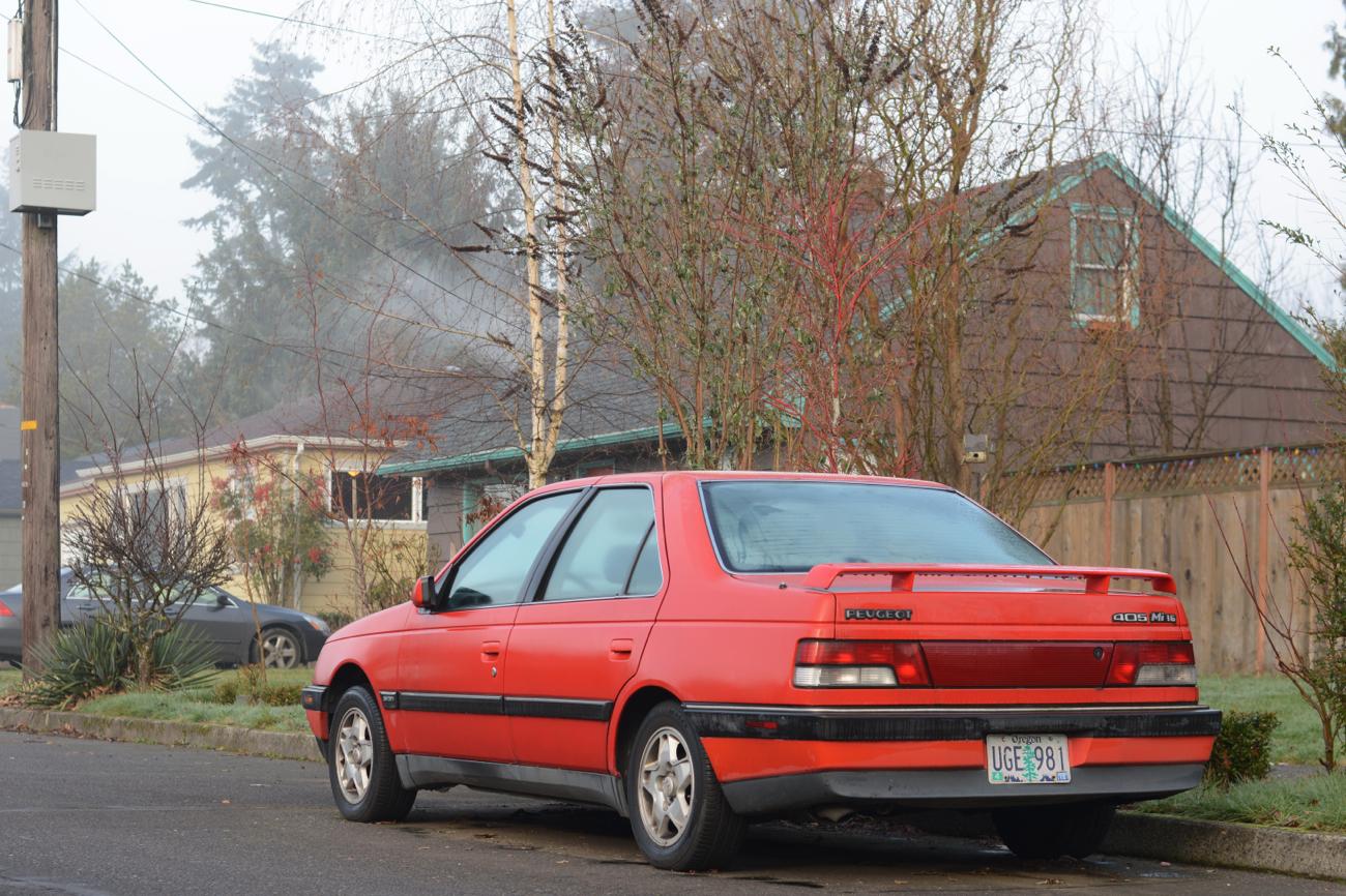 old parked cars 1989 peugeot 405 mi16 revisited. Black Bedroom Furniture Sets. Home Design Ideas
