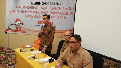 Ketua KPU Tangerang: Penyelenggara Harus Teliti dan Akurat Dalam Pendataan Pemilih