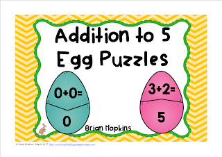 FREEBIE Easter Eggs Addition to 5 Puzzles