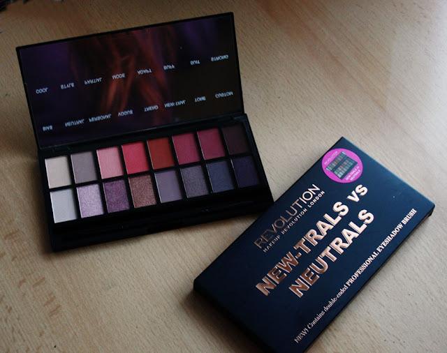 New-trials vs neutrals od Makeup Revolution