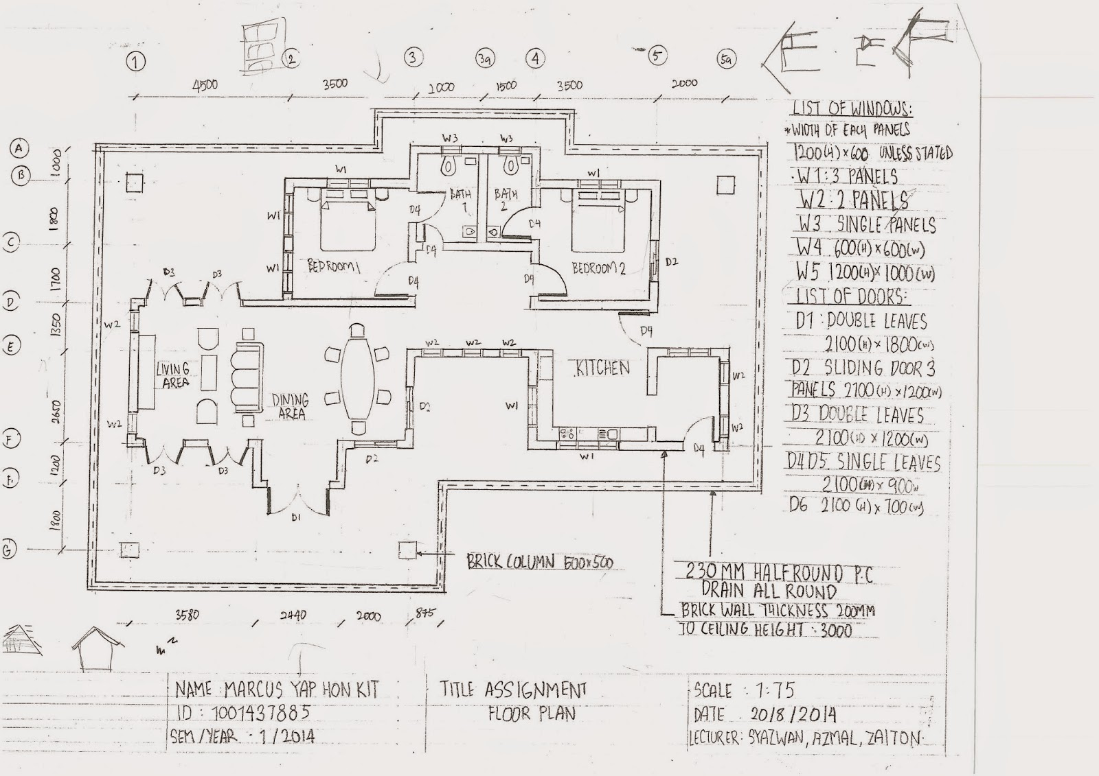 Road To Architecture: Lecture 6 : Technical Drawing ( Plan