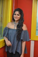 Mega Akash in a sleeveless Off Shoulder Cute Dress Stunnign beauty at Radio Mirchi Promoting Movie LIE ~ Celebrities Galleries 059.JPG