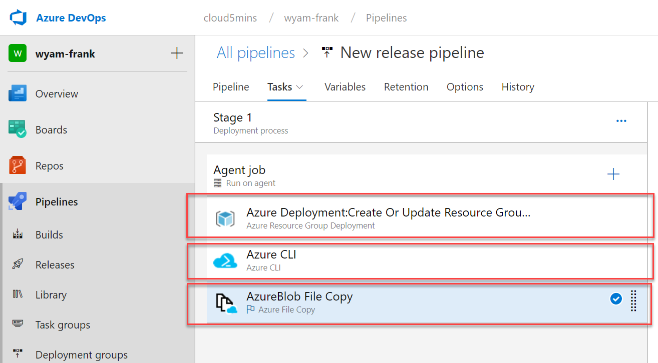 Franky's Notes: Deploy automatically a static website into an Azure