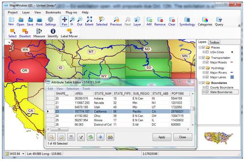 MapWindow GIS - Free Open Source GIS Application - Free GIS