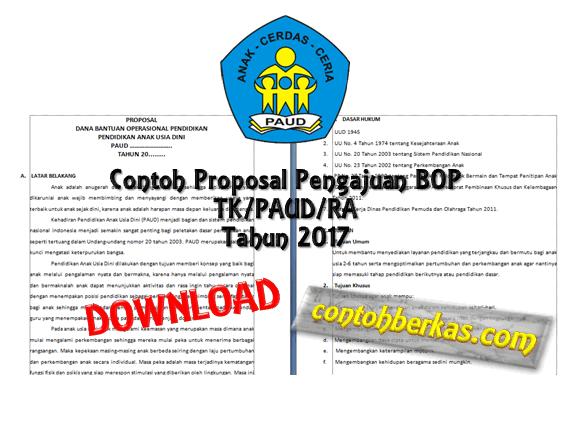 Contoh Proposal Pengajuan BOP TK/PAUD/RA Tahun 2017