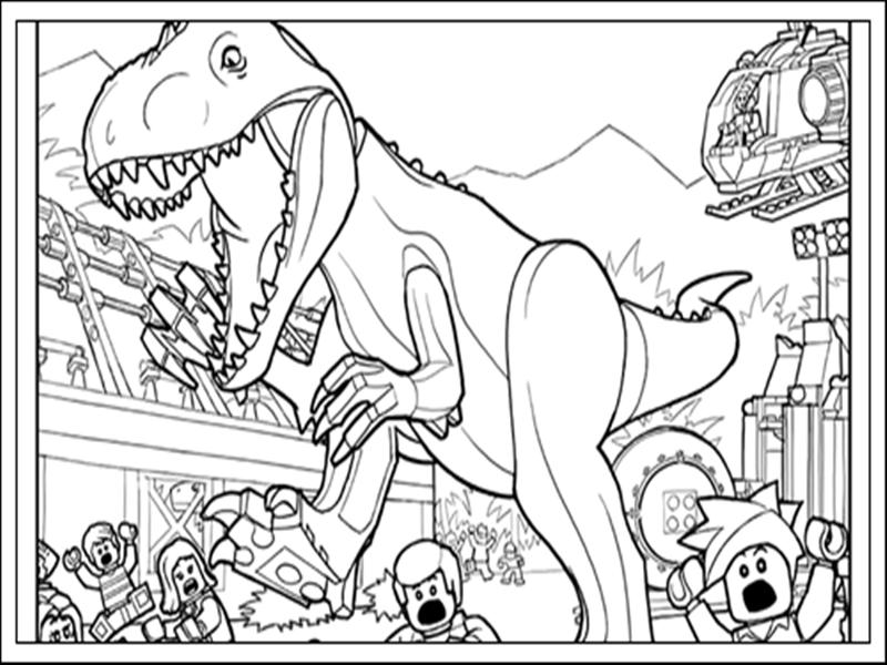 Desenhos Do Jurassic World Para Colorir