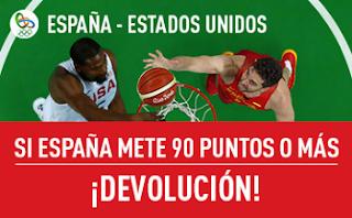 Promocion sportium Basket JJOO: España vs EEUU 19 agosto
