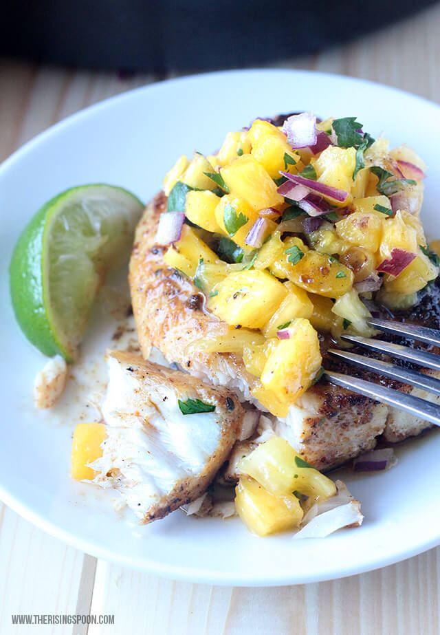 Healthy Fish Recipe: Pan-Seared Mahi Mahi with Pineapple Salsa