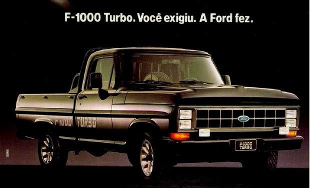 Propaganda da Ford F-1000 versão Turbo.
