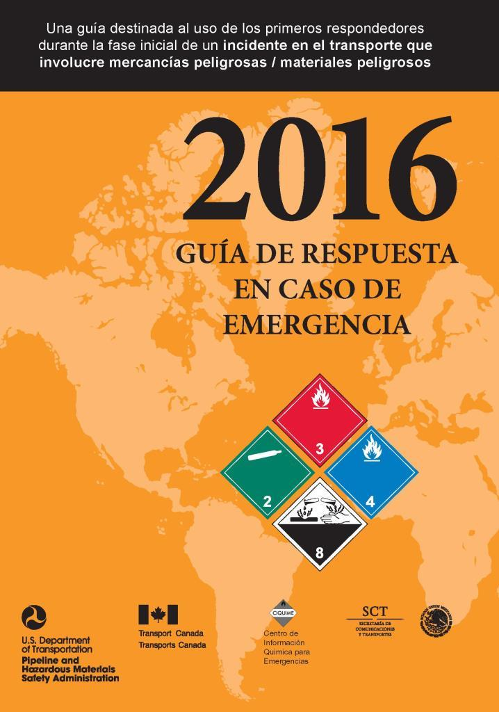 Guía de respuesta en caso de emergencia 2016