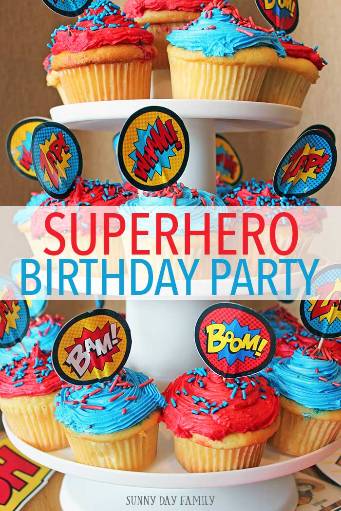 Throw a fun and easy superhero party for your kids with these awesome ideas! Super hero decorations, super hero goodie bags, activities and food ideas. Love this super hero party!