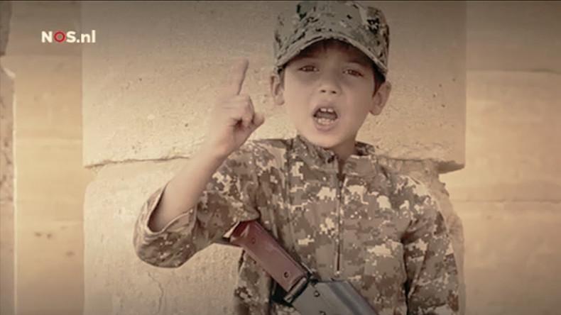 Enfant soldat utilisé dans un clip de propagande de Daesh capture d'écran Youtube (Photographie d'illustration)