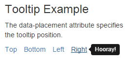 Infallible Techie: Bootstrap Tooltip