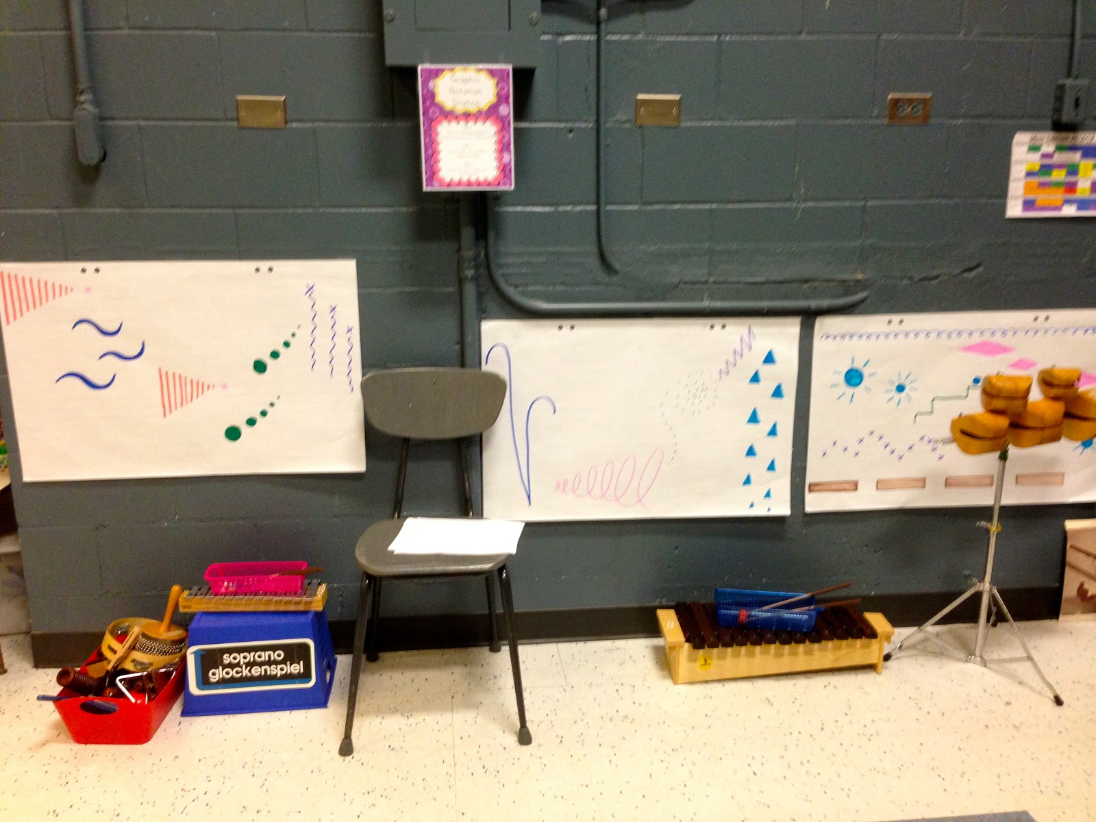 Elementary Music Resources Centers Graphic Notation Station