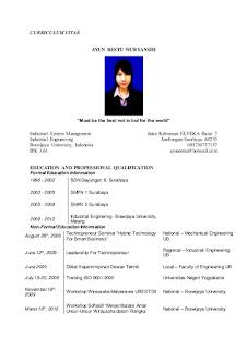 CV yang terbaik
