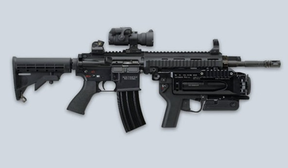 Dipasang di senapan M4